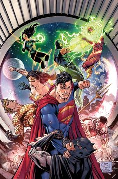 Justice League by Tony Daniel, colours by Tomeu Morey *