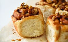 <p>These sticky buns are an irresistible combination of vanilla-flavored dough, a sticky caramelized brown sugar coating, crunchy walnuts, and lots of cinnamon. </p>