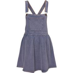 Denim Jersey Pinafore Dress ($40) ❤ liked on Polyvore featuring dresses, skirts, overalls, denim, women, blue dress, denim pinafore dress, long length dresses, blue pinafore dress and denim dresses