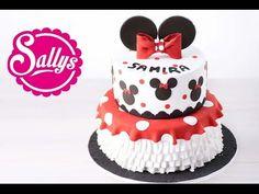 Minnie Mouse Torte / Walt Disney / Tortenboden: Link>saftiger Schokoladenkuchen- Standard für Fondanttorten 13.09.15 - YouTube