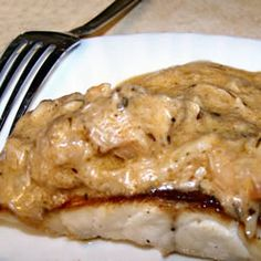 Broiled Grouper with Creamy Crab and Shrimp Sauce..Gotta try this with fresh crab and shrimp!