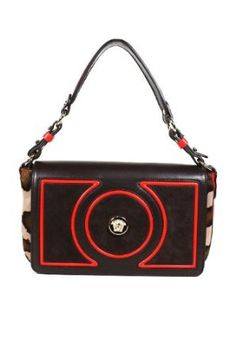 Versace Handbags Leather Brown and Red DBFD094