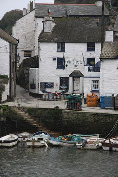 The Blue Peter Inn Polperro Cornwall, my daughters favorite place to visit in England! ~ from previous pinner Cornwall England, Devon And Cornwall, England Uk, Cornwall Coast, British Pub, British Isles, Polperro Cornwall, St Just, Blue Peter