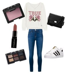 """""""Sans titre #4"""" by bouferma-rim ❤ liked on Polyvore featuring True Religion, Frame Denim, adidas, Aspinal of London, Smashbox and NARS Cosmetics"""