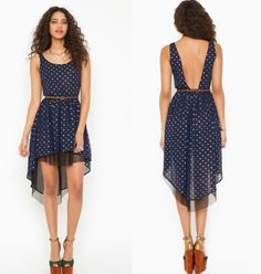 high low dresses look amazing and polka dots are adorable