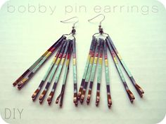 DIY fringe earrings from... bobby pins!!