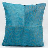 Found it at Wayfair - Natural Leather and Hide Leather Throw Pillow
