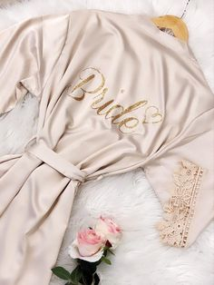 Buy Now Kids/Adult Bridesmaid Robes Silky Lace Robe Bridesmaid. Bridesmaid Pyjamas, Bridesmaid Robes, Brides And Bridesmaids, White Bridal Robe, Bridal Lace, Bridal Party Robes, Gifts For Wedding Party, Party Gifts, Happy Brautmoden