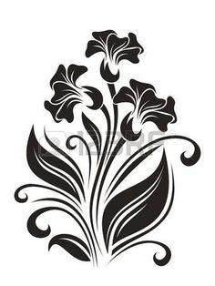 Цветочный: Цветы орнаментом. иллюстрации.