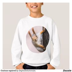Curious squirrel sweatshirt