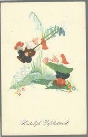 Nel Wiebenga kabouterkaart (zeldzaam)