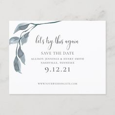 Shop Modern Blue Change the Date Wedding Save the Date Announcement Postcard created by BerryPieInvites. Wedding Save The Dates, Save The Date Cards, Elegant Wedding Invitations, Wedding Stationery, Marvel Wallpaper, Dating Again, Pink And Green, Announcement, Wedding Inspiration