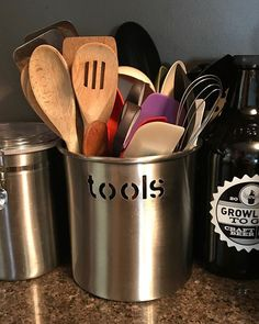 Keep all the essentials handy! #kitchen #kitchentools #kitchenorganization #stainlesssteel #homeorganization #homeorganizer #proorganizer #professionalorganizer #rva #richmond #richmondva #shortpump @homegoods Yummery - best recipes. Follow Us! #kitchent