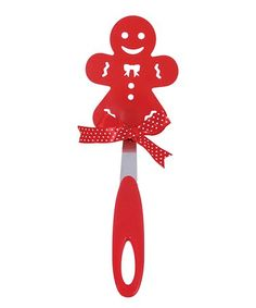 Loving this Red Gingerbread Man Holiday Spatula on #zulily! #zulilyfinds  sc 1 st  Pinterest & 4 Corelle White and Red Gingerbread Men Man Hearts Christmas Dinner ...