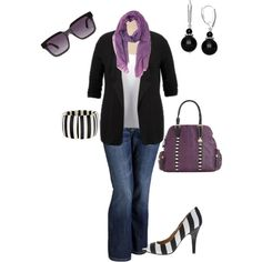 """Plus size little bit of purple"" by penny-martin on Polyvore"