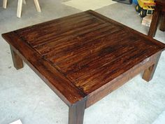 diy large coffee table & end tables