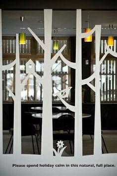 プチホテルのロビーの一角。オリジナルのパネルデザインが出迎えてくれますよ。ひるがの高原グリーンガーデン 店舗 デザイン;名古屋 スーパーボギー http://www.bogey.co.jp