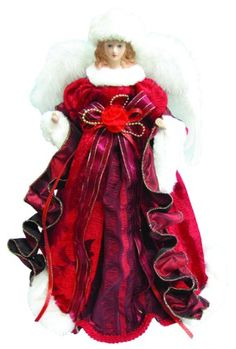 This gorgeous Angel tree topper really embodies the Christmas Spirit well! Christmas Tree Angel, Ghost Of Christmas Past, Christmas Tree Tops, What Is Christmas, Christmas Decorations, Barbara Angel, Unique Tree Toppers, Scandinavian Christmas, Scandinavian Style