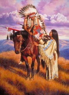 Peintures Alfredo Rodriguez - Amérindiens & autres