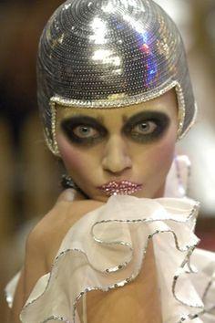 See detail photos for John Galliano Spring 2008 Ready-to-Wear collection. Sasha Pivovarova