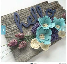 Hello + flowers