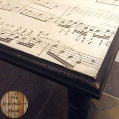 End Table Makeover from The Refurbished Home **Also includes tutorial for aging paper