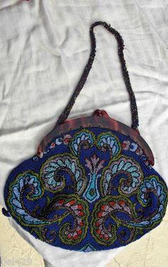 Vintage Beaded Victorian Purse Hand Bag | eBay