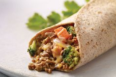 Why let Monday have all the meatless fun? Good any night, these burritos for two include cheese, BOCA Veggie Ground Crumbles, fresh veggies and cilantro.
