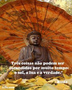 """Três coisas não podem ser escondidos por muito tempo: o sol, a lua e a verdade."""" Buda"""