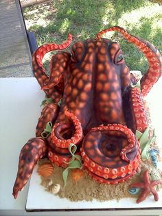 octopus cake for kids birthday party...