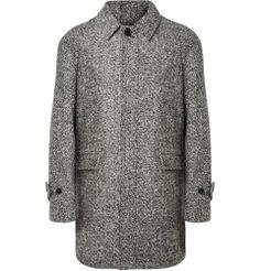 PRODUCT - Sandro - Flecked Wool-Blend Coat - 388390|MR PORTER