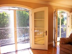 Contemplating Replacing The Single Back Door In Kitchen With French Doors Screens Wow Would These Make Amazing