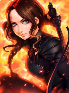 The Hunger Games' Katniss illustration I've done for workshop in the latest ImagineFX issue!