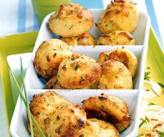 Beignets de pomme de terre au jambon cru, emmental et ciboulette - Cyril Lignac - Gourmand