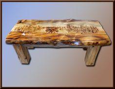 Wild Buffalo Blue Pine Coffee Table