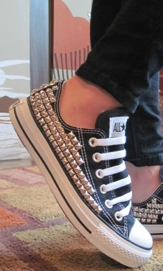 I don't usually like shoes with studs,but these are Converse and they're actually really pretty like this!
