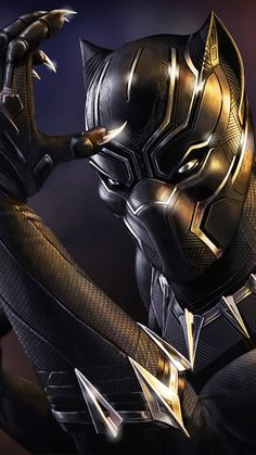 Black Panther by Sin-Vraal Black Panther Marvel, Black Panther King, Black Panther 2018, Marvel Comic Universe, Marvel Dc Comics, Marvel Heroes, Marvel Avengers, Marvel Films, Marvel Characters