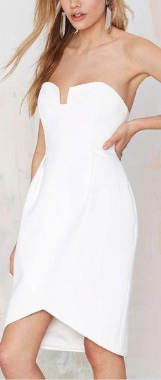 divide strapless dress