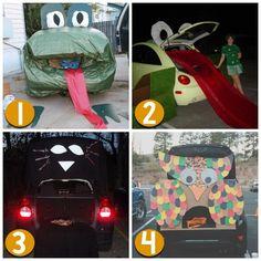 Frog, Cat, Owl  l Decorating Cars l Cars & Halloween TRUNK OR TREAT