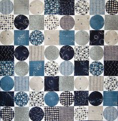 Inspired by a Lie Dirkx graphic and assembled using Nocturne by Moda, this piece was submitted for consideration in QuiltCon 2016!  - 28 X 28 inches - 100% cotton fabrics (Nocturne by Moda) - handmade; machine pieced and quilted, hand finished binding - wall quilt, baby quilt