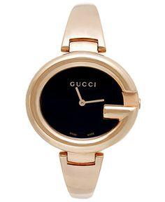 Gucci Women's Swiss Guccissima Rose Gold PVD Bangle Bracelet Watch 36mm YA134305 - Luxury Brands - Jewelry & Watches - Macy's