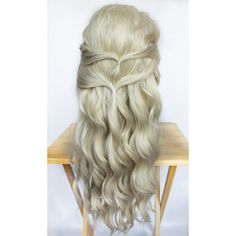 Blonde Wig Blonde Lace Front Wig Lace Front Wig Long Wavy Blonde Wig... ($144) ❤ liked on Polyvore featuring beauty products, haircare, hair styling tools, hair, hairstyles, straight iron, flat iron, styling iron and straightening iron
