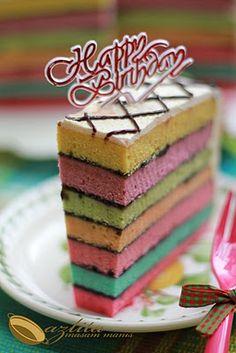 RAINBOW CAKE #cake