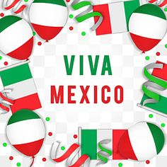 Mexico Independence Day With Ballon Ribbon Flag Mexico Banner Event Png Transparent Clipart Image And Psd File For Free Download Print Design Template Independence Day Creative Graphic Design