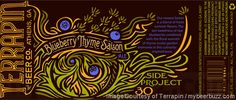 mybeerbuzz.com - Bringing Good Beers & Good People Together...: Terrapin Side Project # 30 - Blueberry Thyme Saiso...