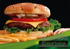 Nuestra Hamburguesa Mamajuana, Una de las selecciones preferidas por nuestros comensales.. Vente Pruebala ¡¡¡