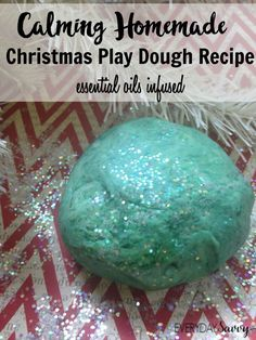 Here is great Homemade Christmas Play Dough Recipe that uses essential oils to give a calming effect. There is so much activity and stimulation at Christmas time that your kids can easily get overwhelmed.