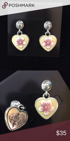 Brighton earrings Cream heart earrings Brighton Jewelry Earrings