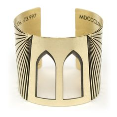 Brooklyn Bridge inspired cuff bracelet. Bold, statement piece with architectural influences by betsy & iya