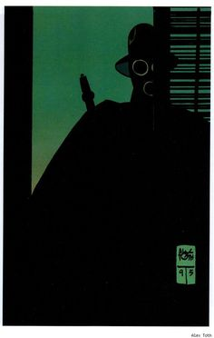 #Sandman as drawn by Alex Toth.  Yes, the guy who created Space Ghost also made this extremely stylish rendition of Wesley Dodds.